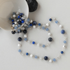 Blue and white silver necklace