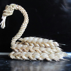 hand made corn dolly swan