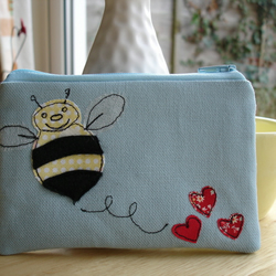 ' Bee-cause I love you ' - coin purse