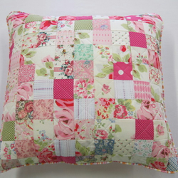 Vintage and Cath Kidston fabric Patchwork cushion cover