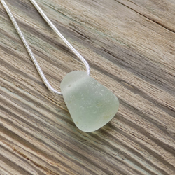 Natural sea glass jelly sweet pendant