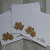 Just a Note - Autumn Leaves - Set of Three Blank Notecards