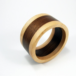 Maple and Walnut Wooden Bangle