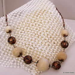 "Wood and copper necklace ""Cheralyn"""