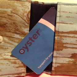 Reclaimed Wood Distressed Looking  Oyster Card Credit Card Holder