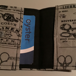 Grey Oyster Card Credit Card Holder