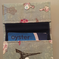 Paris Print Oyster Card Credit Card Holder