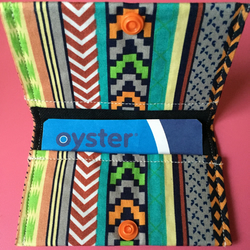 Ethnic Print Oyster Card Credit Card Holder