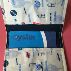 London Print Oyster Card Credit Card Holder