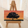 Dolls House Painting Sunset Tree