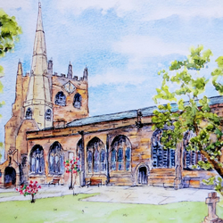 Church Greetings Card, St Peter and St Paul, Ormskirk