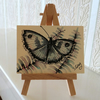 Butterfly Painting Sketch Card ACEO