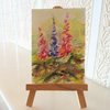Lupins Flower Painting ORIGINAL ACEO