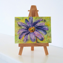 Anemone Flower Painting ORIGINAL ACEO Mini Folksy