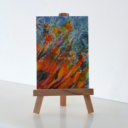 Fire Bonfire Painting ACEO