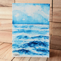 Sea Painting ACEO