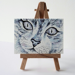 Mavis the Cat  painting ORIGINAL ACEO reserved for CRINHUNT