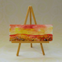 Sunset Mountains Dolls House Painting