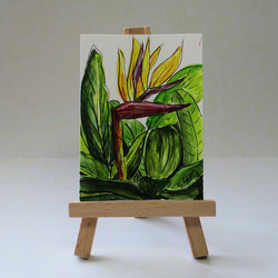 Bird Of Paradise Floral Watercolour ACEO