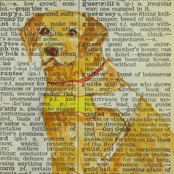 Dictionary Guide Dog Painting