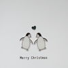 Christmas card - A Pair of Penguins