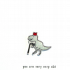 you are very very old - dinosaur - handmade card