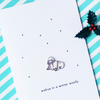 christmas card - walrus in a winter woolly