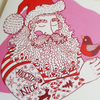 Naughty or Nice:  Tattooed Santa Christmas Greetings Card