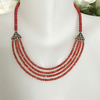 Coral Necklace Tibetan Necklace Layered Necklace