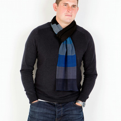 Blue Scarf, Black Scarf, Men's Scarf, Men's Fashion, 301