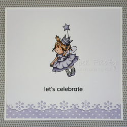 Little lilac fairy birthday card