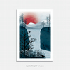 Falling Water Illustrated Art Print
