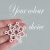Set of Three Lace Snowflake Decorations - Your choice of colour