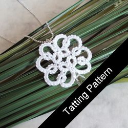 PDF Tatting Pattern - 'Christina' Pendant - Intermediate