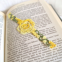 Yellow Rose Lace Bookmark