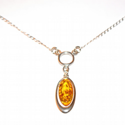 amber and sterling silver necklace