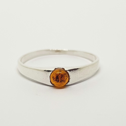 sterling silver and amber ring