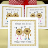 'Biscuits & Tea...' jammie dodgers & shortbread biscuits greeting card