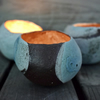 Ceramic Pebble Candle Holder