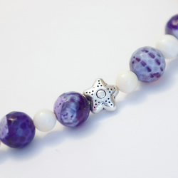 HALF PRICE! Purple Agate Necklace