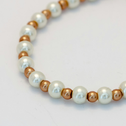SALE! Cream and Golden Brown Pearl Bracelet