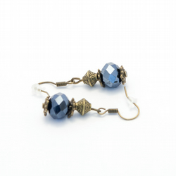 SALE! Navy Blue Crystal Earrings