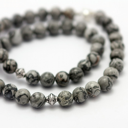 Men's Scenery Jasper Stone Necklace