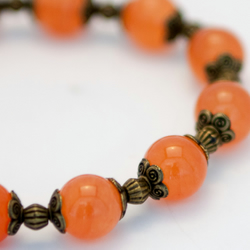SALE! Burnt Orange Mountain Jade Bracelet