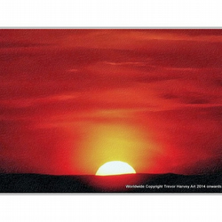 ACEO Art Print - 'Sunset', Open Edition ACEO Print.