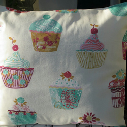 "Cup Cakes Cushion Cover  40cm (16"")"