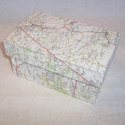 Storage Box in Map Paper