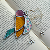 Stained Glass Love Bird (yellow)