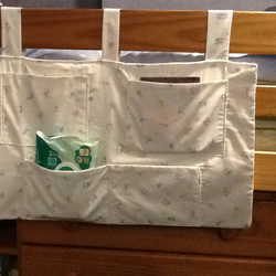Baby cot organiser, cot tidy, storage pocket tidy