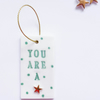 "Green Polka dots ""You are a star"" porcelain home decor ornament"